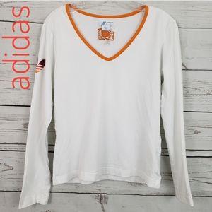 Adidas NWOT  Long sleeve white top